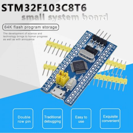 Módulo de placa de desenvolvimento, sistema mínimo, placa de desenvolvimento, módulo STM32F103C8T6 ARM STM32 para Arduino