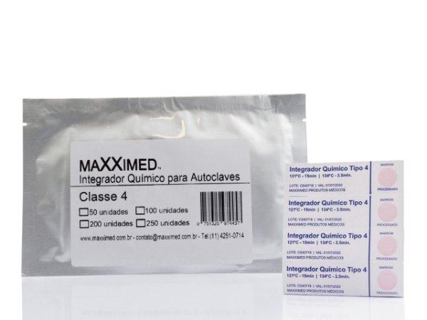 Integrador Químico Maxximed Classe 4 com 100 Unids.