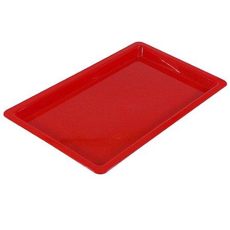 Bandeja Plastica Vermelha - Média - Nova OGP