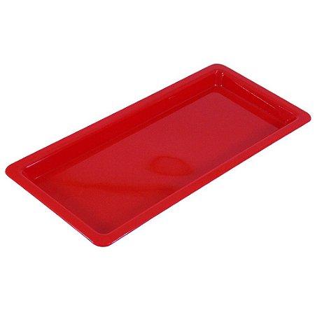 Bandeja Plastica Vermelha - Pequena - Nova OGP