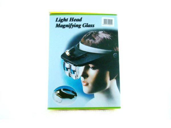 Lupa de Cabeça MP244L Magnifying Glass com 4 Lentes e Iluminação
