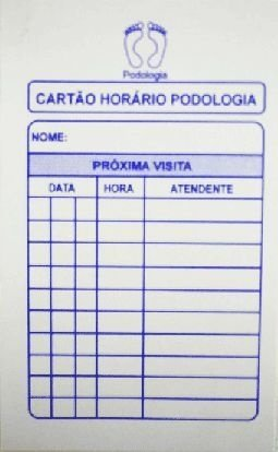 Cartão Horário Podologia