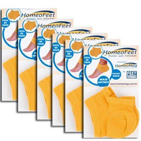 Kit Homeofeet Homeomag Protetor Para Hidratação Caqui com 6 Unidades