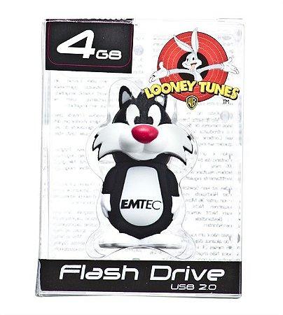 Pen Drive Looney Tunes Frajola 4GB Emtec USB 2.0