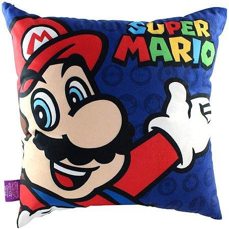 Almofada Super Mario 40x40cm Fibra Veludo - Zona Criativa