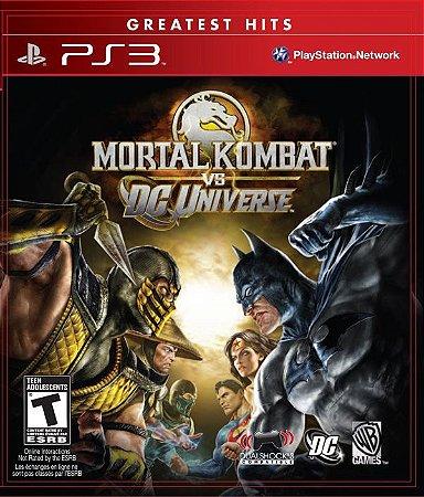 Mortal Kombat Vs DC Universe - PS3 (usado)