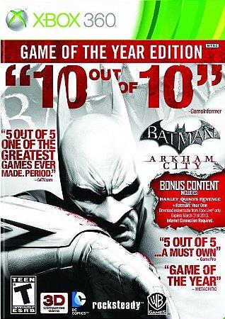 Batman Arkham City: Goty Edition - Xbox 360 (usado)