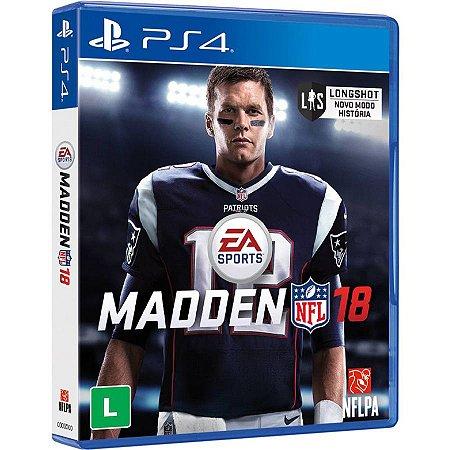Madden NFL 18 - PS4 (usado)