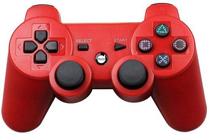 Controle PS3 Dualshock Vermelho Dazz