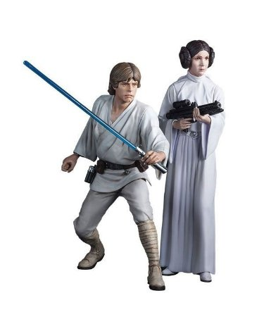 Luke Skywalker & Princess Leia - Star Wars ArtFX Kotobukiya