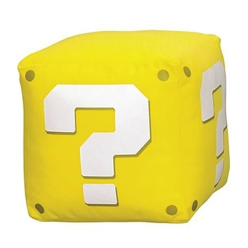 Pelúcia Question Cube c/som New Super Mario Bros - Banpresto