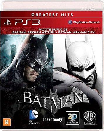 COMBO BATMAN ARKHAM ASYLUM E BATMAN ARKHAM CITY USADO (PS3)