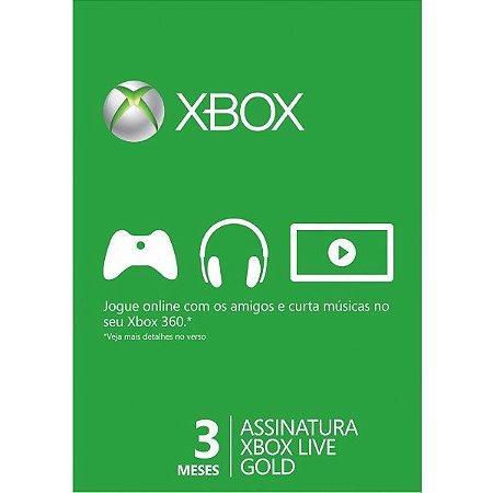 Xbox Live Gold Brasil 3 Meses