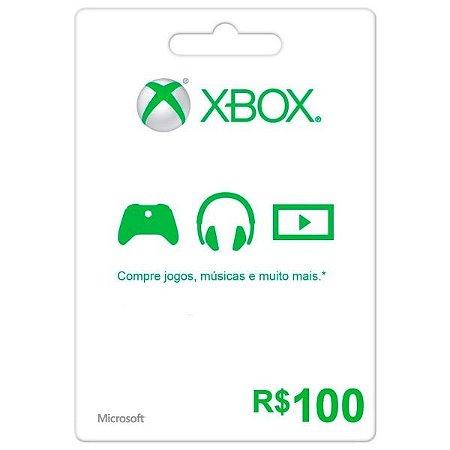 Cartão Xbox Live Presente R$100