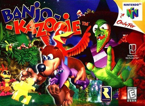 N64 Banjo Kazooie (usado/relabel)