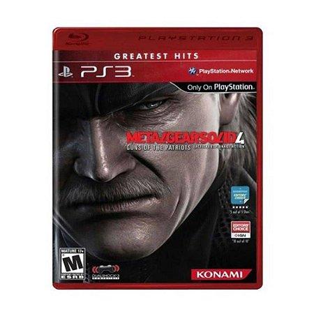 Metal Gear Solid 4: Guns of The Patriots Hits - PS3 (usado)