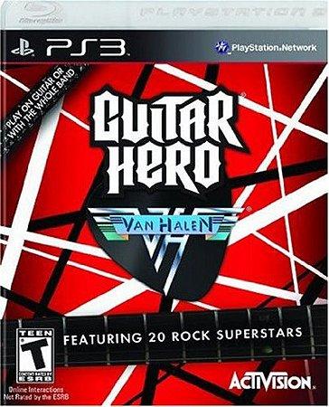 Guitar Hero; Van Halen - PS3 (usado)