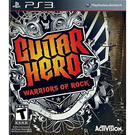 Guitar Hero: Warriors of Rock - PS3 (usado)