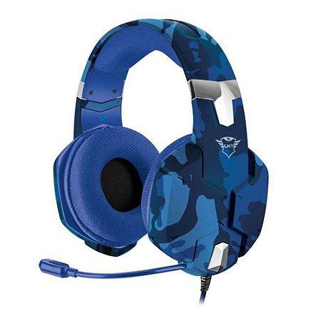 Headset Carus Blue Camu Trust GXT-322B PS4