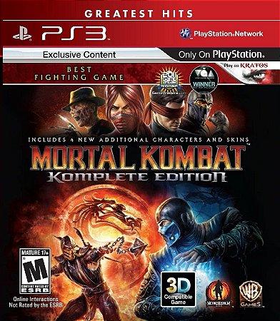Mortal Kombat: Komplete Edition Hits - PS3 (usado)
