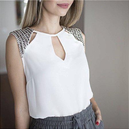 Blusa Crepe Bordada - Nadine