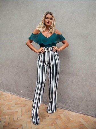 5526448e5 Pantalona Listrada com Cinto - Mells Moda