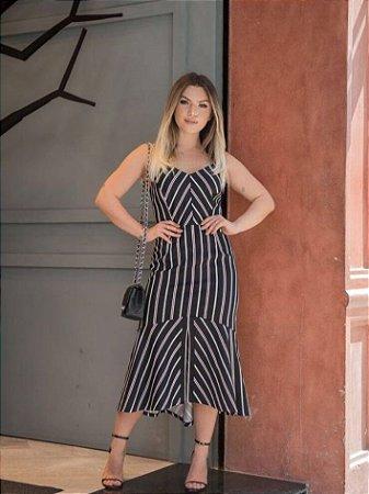 Vestido  Midi Stripe