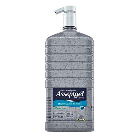 Álcool em Gel Antisséptico Assepgel Aloe Vera Start Quimica  Higenizaor de Mãos 1,7 kg - 3 Unidades