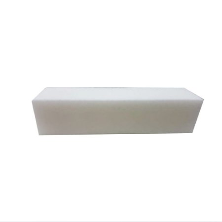 Lixa Bloco Branca Polidora Unhas Acrílico Gel Porcelana - 3 Unidades