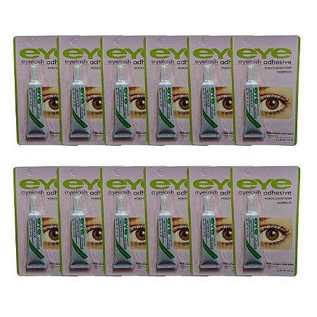 Cola para Cílios Portiços Transparente a Prova D'Agua Eye Eyelash Adhesive 7g - 12 Unidades