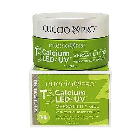 Gel T3 Led-Uv Calcium Cuccio Pro - 28g