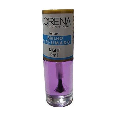 Base Lorena Top Coat Color Special Brilho Perfumado Night 9ml - 6 Unidades