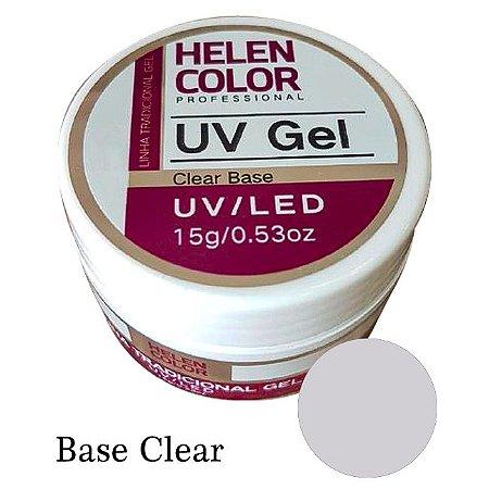 Gel Linha Base Clear Helen Color Uv Led Unha Acrygel 15g - 3 Unidades