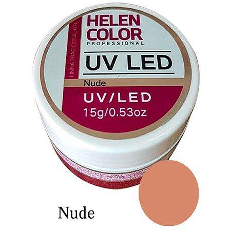 Gel Linha Nude Helen Color Uv Led Unha Acrygel 15g - 3 Unidades