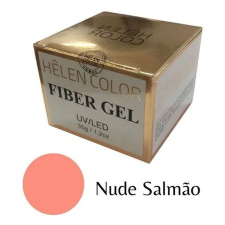 Gel Para Alongamento De Unhas Helen Color Nude Salmão 35g - 3 Unidades