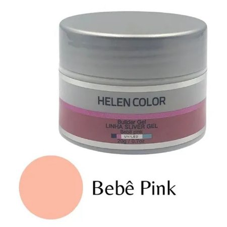 Gel Para Unhas De Gel Helen Color Silver Bebê Pink 20g - 3 Unidades