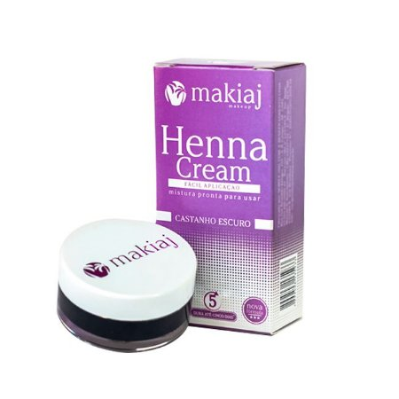 Henna Cream Makiaj Castanho Escuro - 3 Unidades