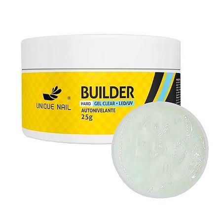 Gel Hard Builder Clear  Unique Nail 25g - 3 Unidades