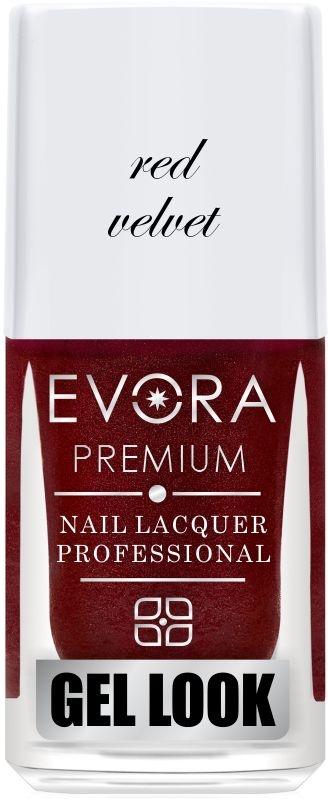Esmalte Évora Premium Gel Look Red Valvet (Caixa com 6)
