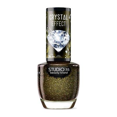 Esmalte Vegano Studio 35 Diamante Negro Coleção Crystal Effect III 9ml - 6 Unidades