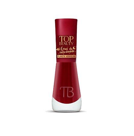 Esmalte Premium Cremoso Top Beauty 9ml Planeta Vermelho - 6 Unidades
