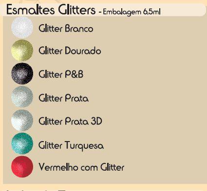 Esmalte Fusion Gliter Dourado (Caixa Com 12)