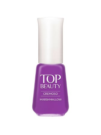 Esmalte Top Beauty Cremoso Marshmallow  (Caixa com 6)