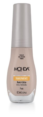 Esmalte Mohda Transparente Praia - 6 unidades