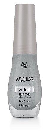 Esmalte Mohda Metálico Prata Crome - 6 unidades