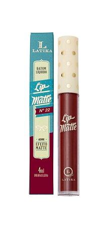 Lip Matte Latika Batom Líquido Vermelho nº22 (Caixa com 6) -  ATACADO