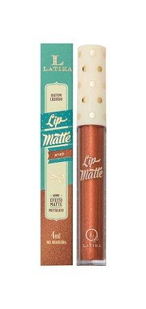 Lip Matte Latika Batom Líquido Cobre Metálico nº 40 (caixa com 6) - ATACADO .Nesta promoção a unidade sai por 12,00 reais