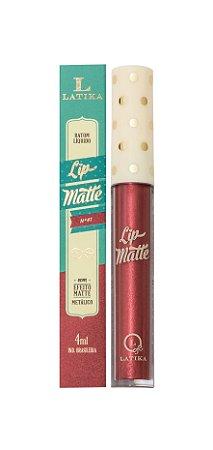 Lip Matte Latika Batom Líquido Vinho Metalico nº 41(Caixa com 6 )