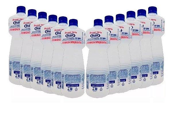 Alcool 70% - Start  caixa com 12 Litros -Combate vírus  e bactérias.