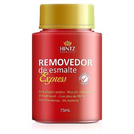 REMOVEDOR DE ESMALTE EXPRESS HINTZ-NAILS 75ML (CAIXA COM 3)